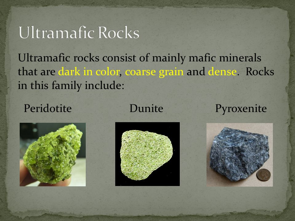 Ultramafic Rocks