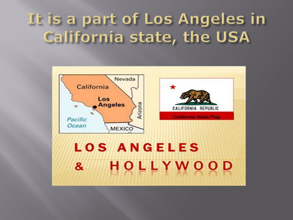 It is a part of Los Angeles in California state, the USA