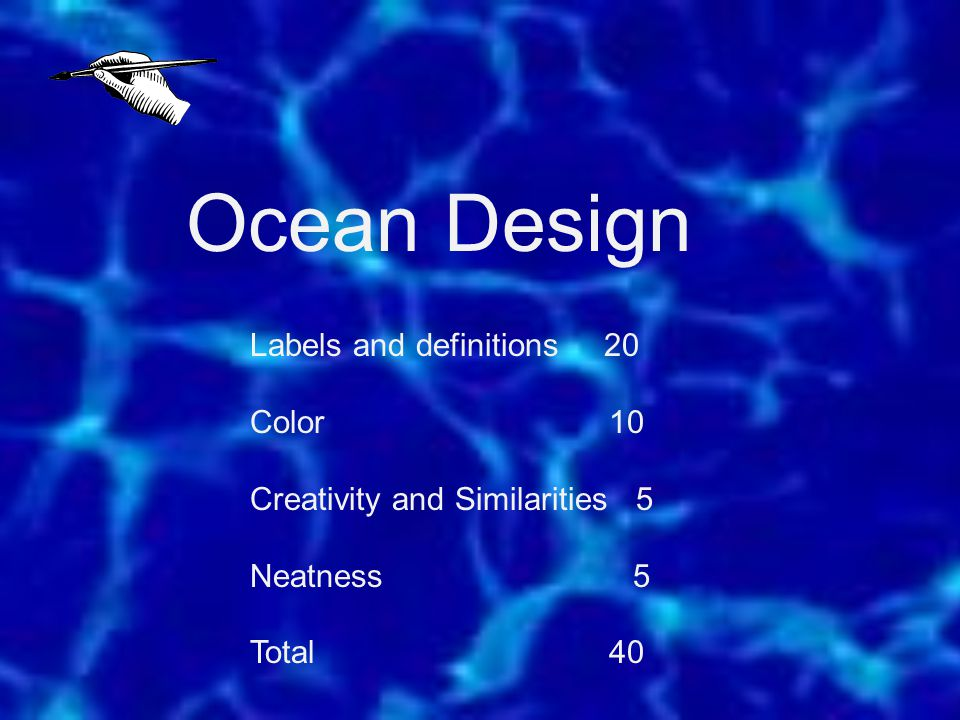 Ocean Design Labels and definitions 20 Color 10