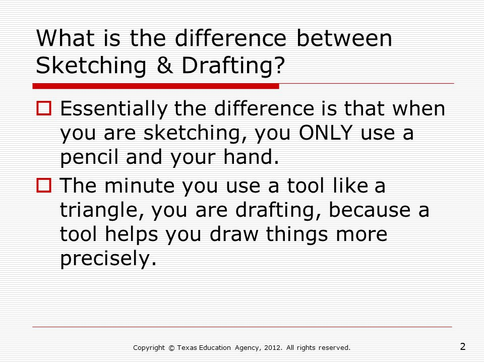 What is the difference between Sketching & Drafting