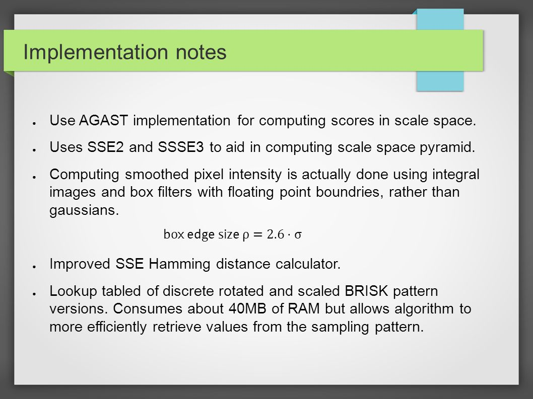 Implementation notes -Supplemental Streaming SIMD Extensions 3