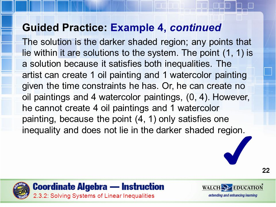 ✔ Guided Practice: Example 4, continued