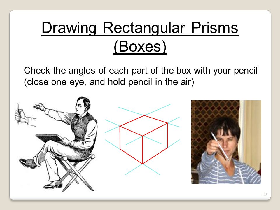 Drawing Rectangular Prisms (Boxes)