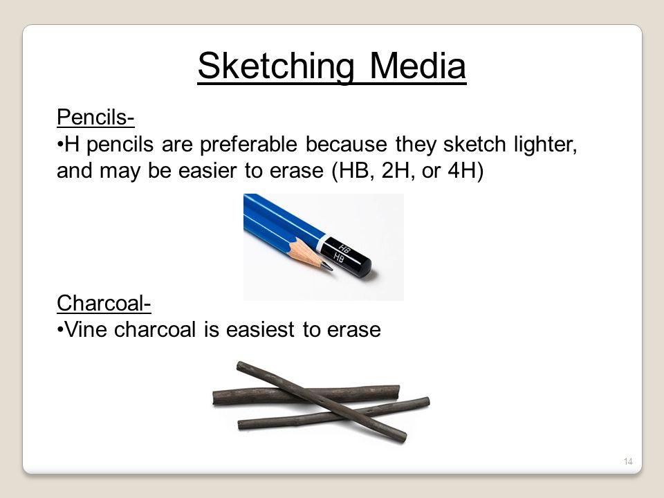 Sketching Media Pencils-