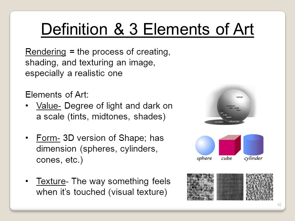 Definition & 3 Elements of Art
