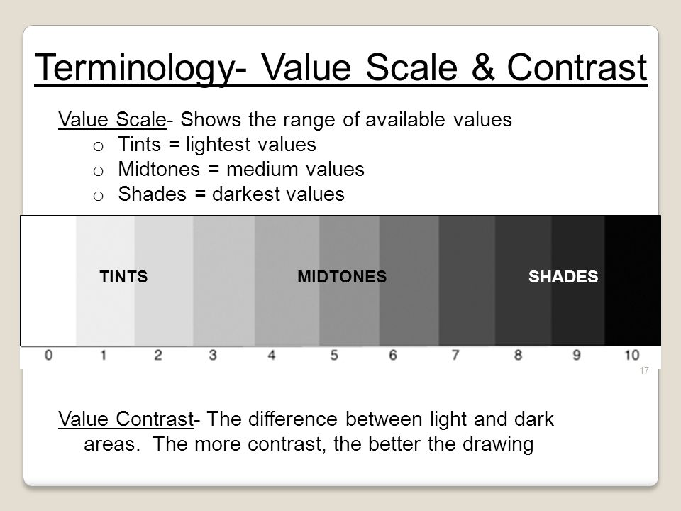 Terminology- Value Scale & Contrast