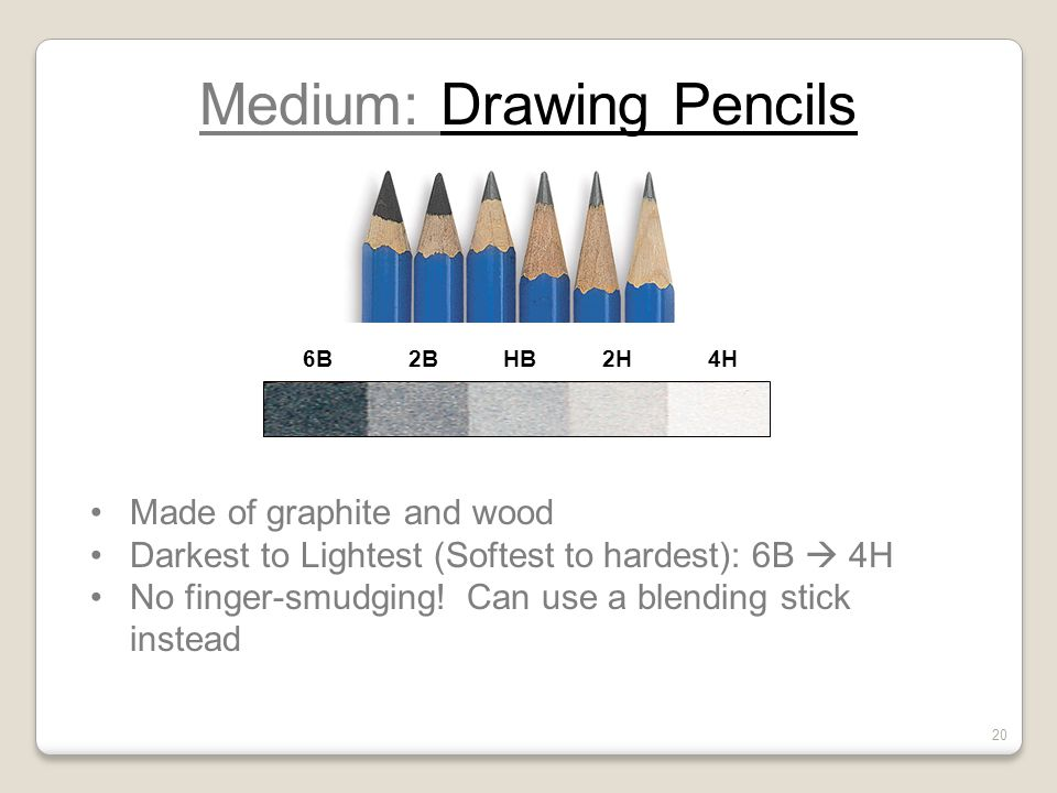 Medium: Drawing Pencils