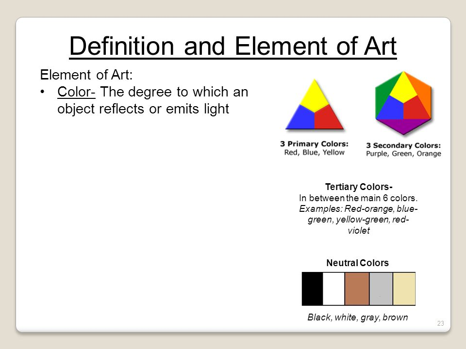 Definition And Element Of Art