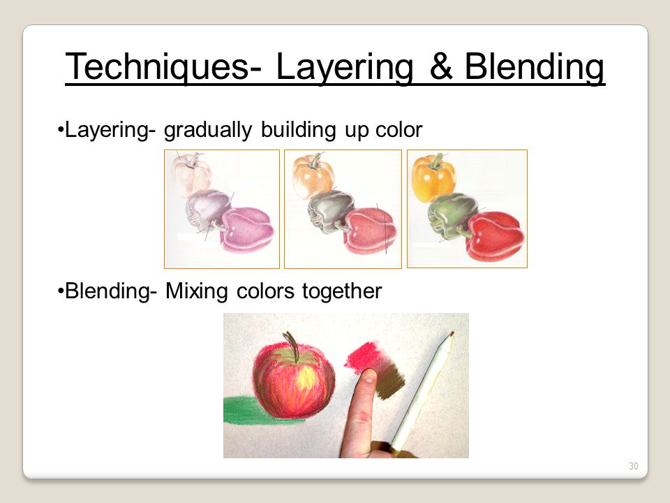 Techniques- Layering & Blending