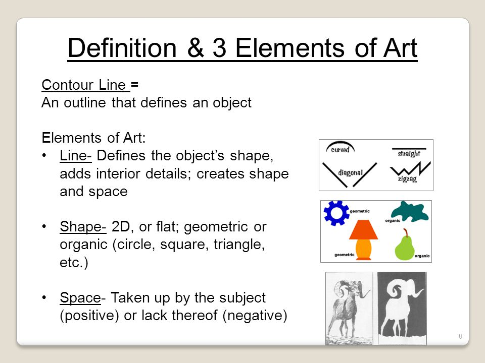 8 Elements Of Art : Quiz review drawing ppt