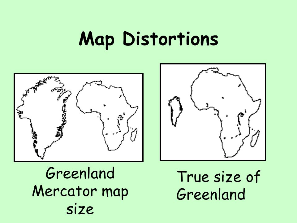 Greenland Mercator map size