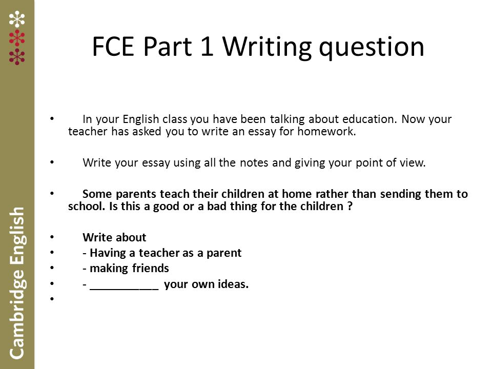 Fce essay tips personal statement
