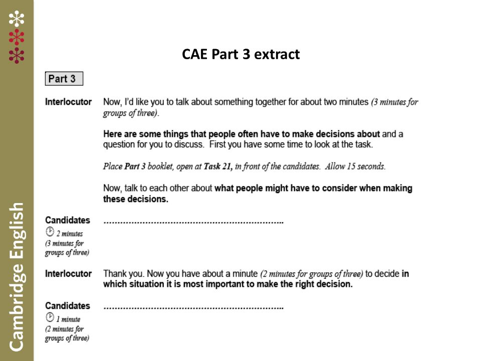 CAE Part 3 extract