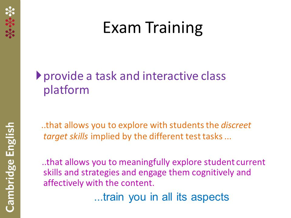 Exam Training provide a task and interactive class platform