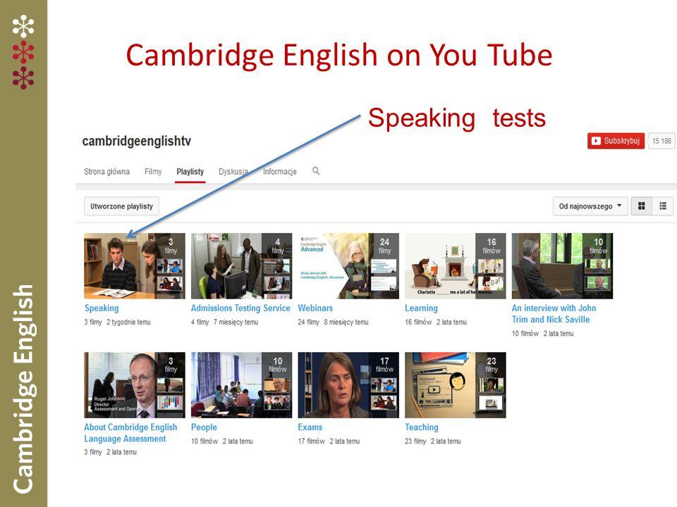 Cambridge English on You Tube
