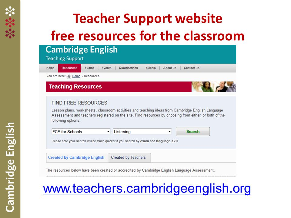 Teacher Support website free resources for the classroom