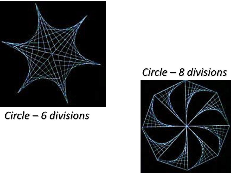 Circle – 8 divisions Circle – 6 divisions