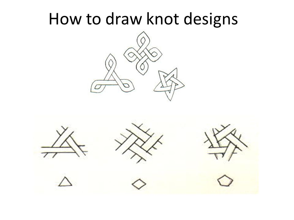 How to draw knot designs