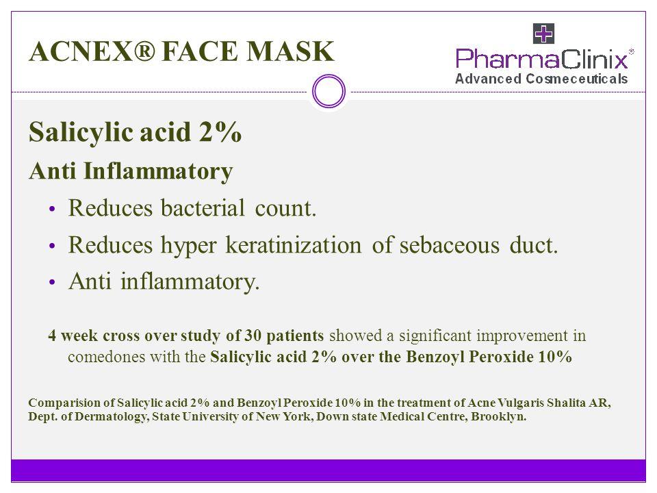 ACNEX® FACE MASK Salicylic acid 2% Anti Inflammatory
