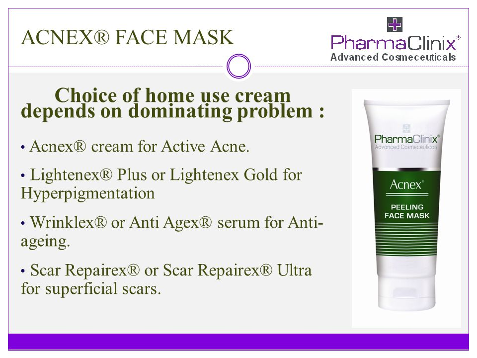 Choice of home use cream depends on dominating problem :