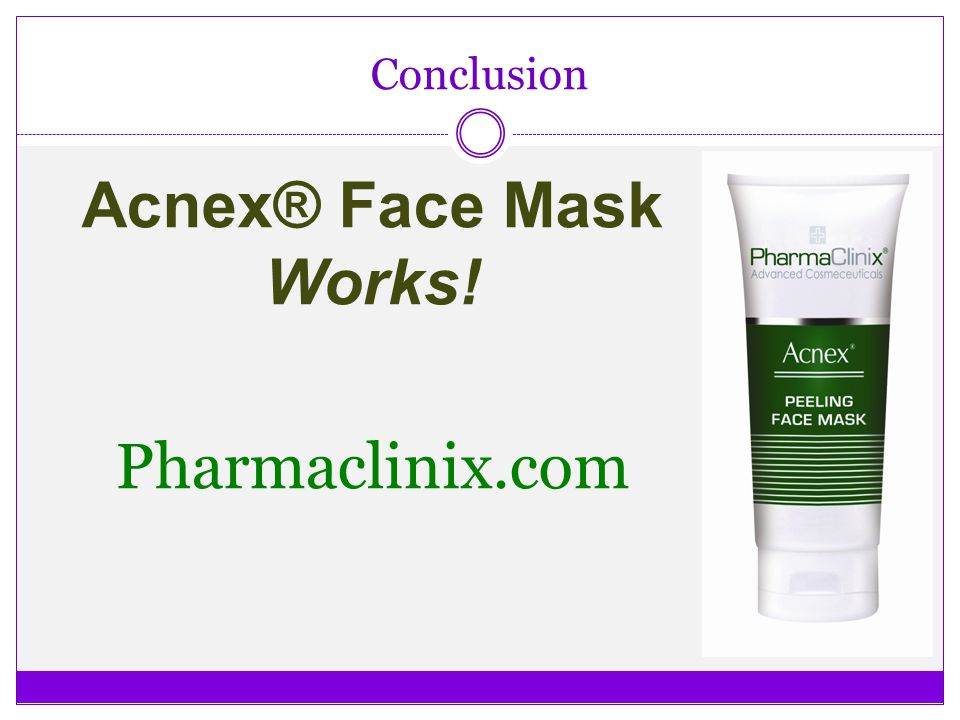Acnex® Face Mask Works! Pharmaclinix.com