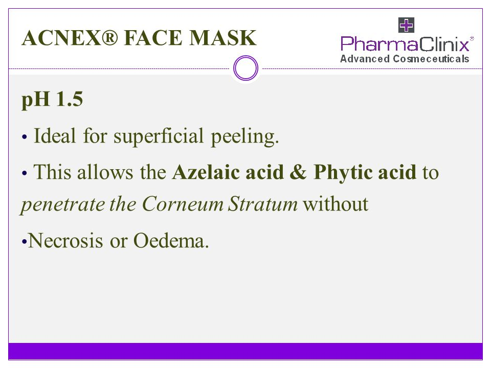 ACNEX® FACE MASK pH 1.5 Ideal for superficial peeling.