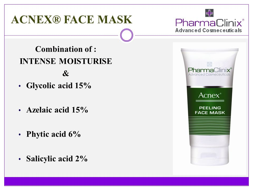 ACNEX® FACE MASK Combination of : INTENSE MOISTURISE &