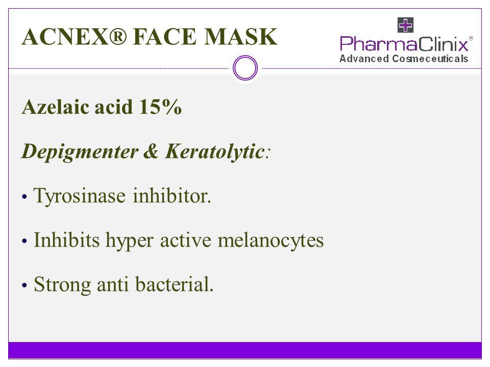 ACNEX® FACE MASK Azelaic acid 15% Depigmenter & Keratolytic: