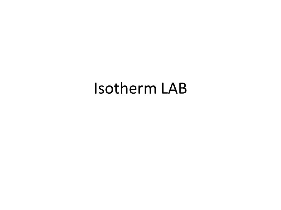 Isotherm LAB