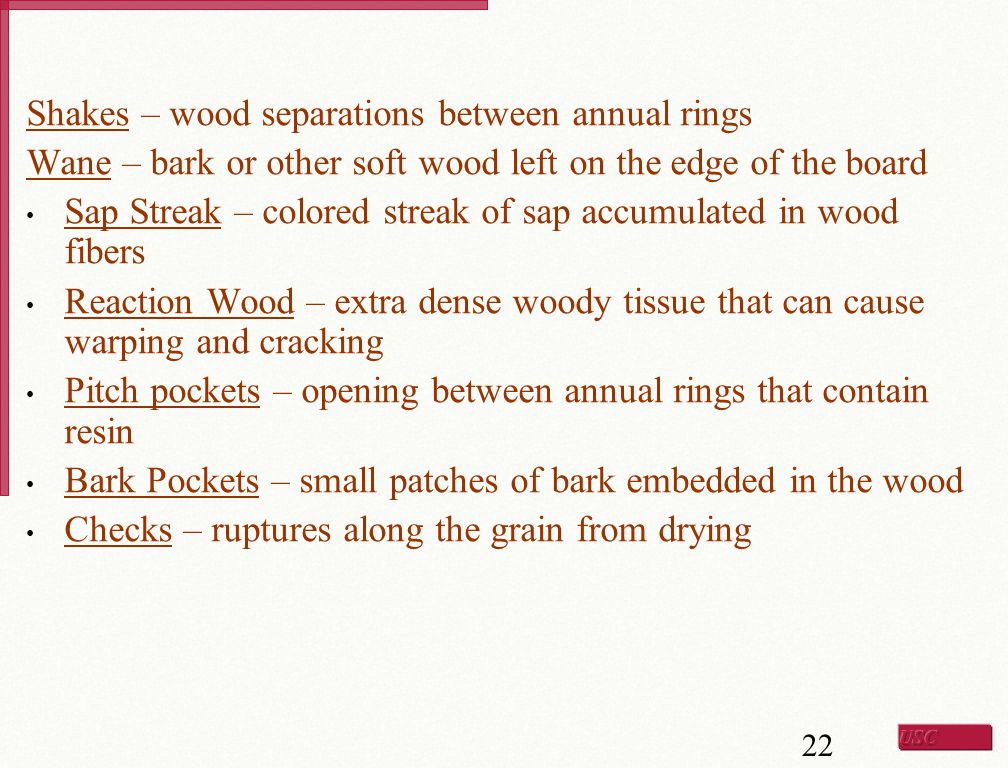 Shakes – wood separations between annual rings