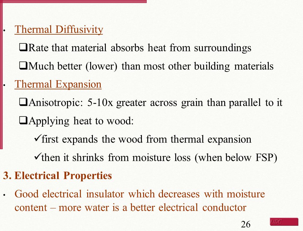 Thermal Diffusivity Rate that material absorbs heat from surroundings. Much better (lower) than most other building materials.