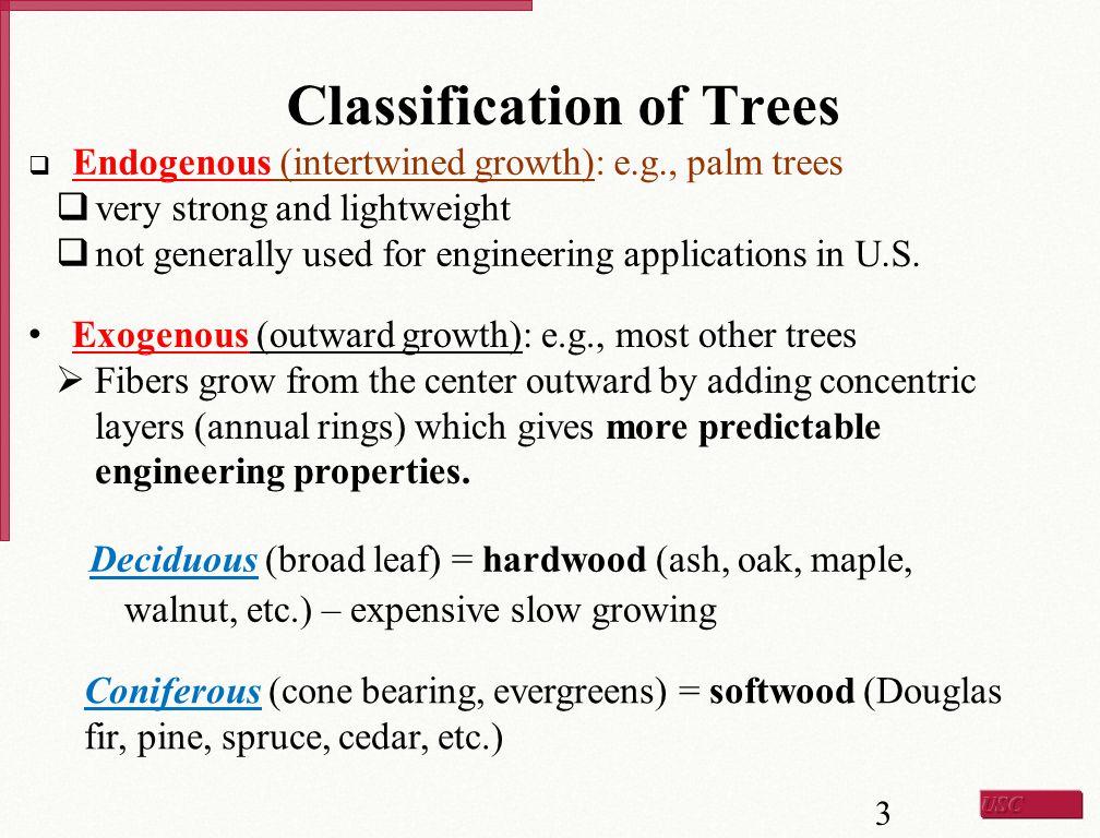 Classification of Trees