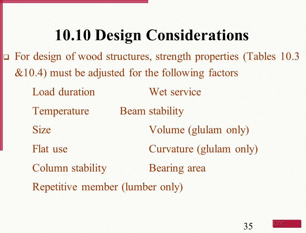 10.10 Design Considerations