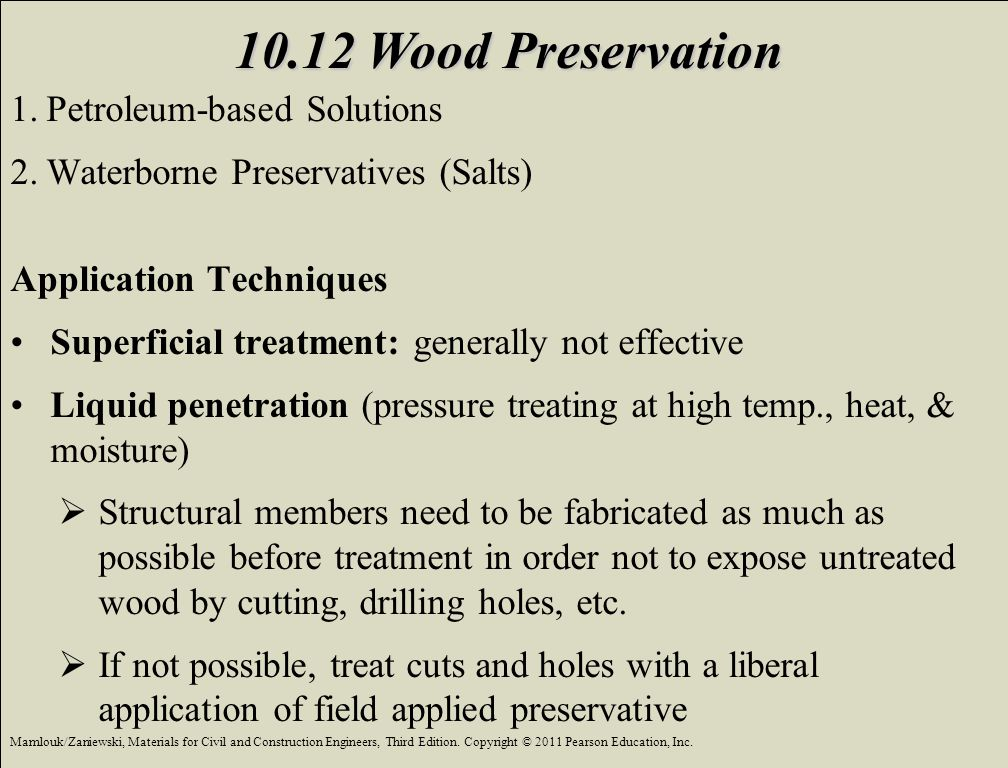 10.12 Wood Preservation Petroleum-based Solutions