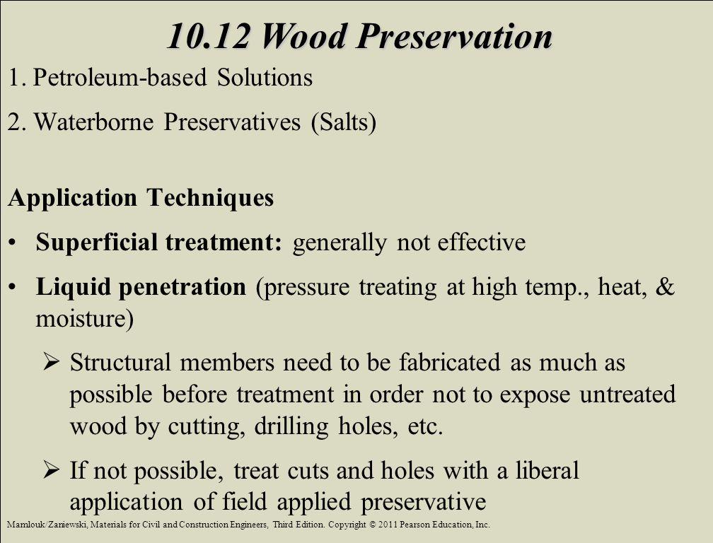 10.12 Wood Preservation Petroleum-based Solutions