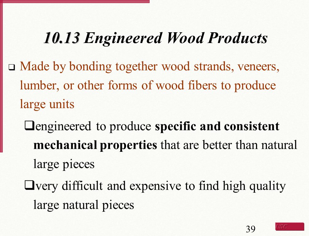 10.13 Engineered Wood Products
