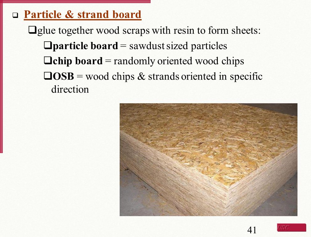 Particle & strand board