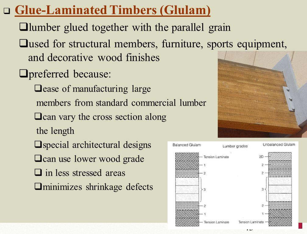 Glue-Laminated Timbers (Glulam)