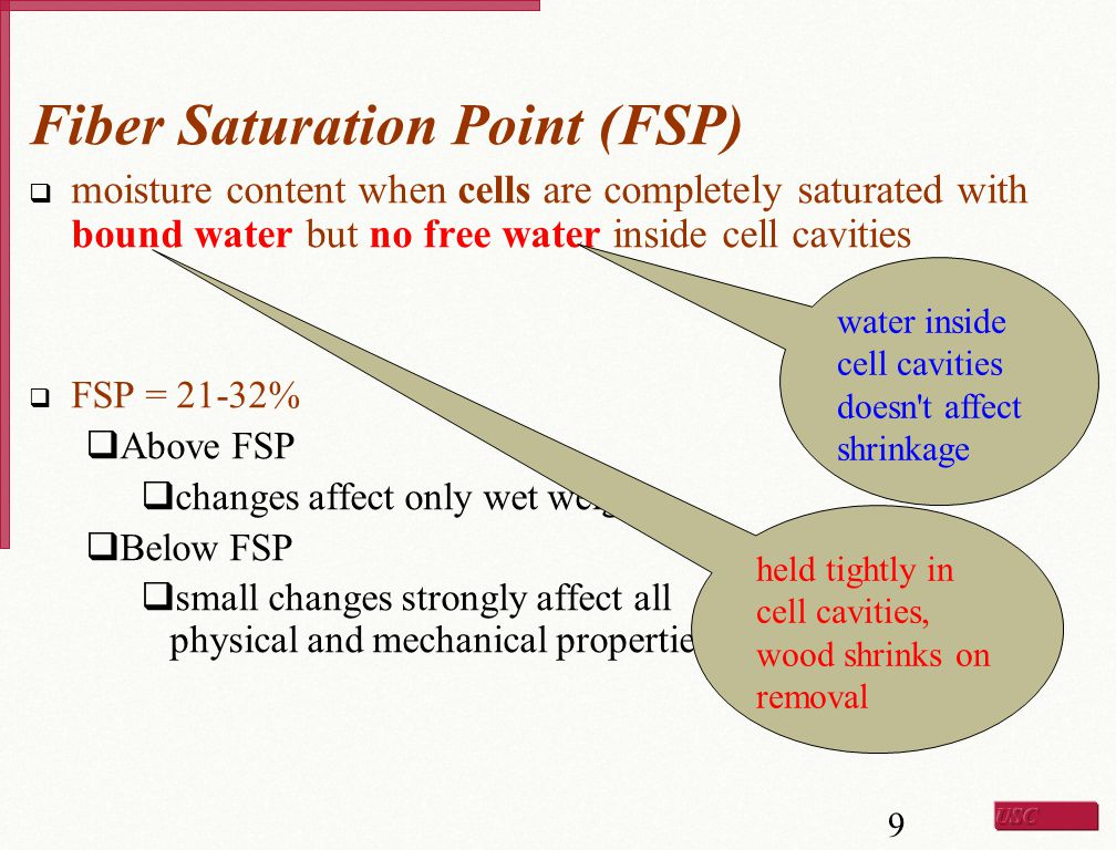 Fiber Saturation Point (FSP)