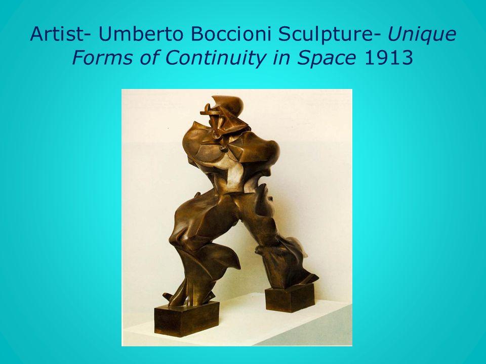 Artist- Umberto Boccioni Sculpture- Unique Forms of Continuity in Space 1913