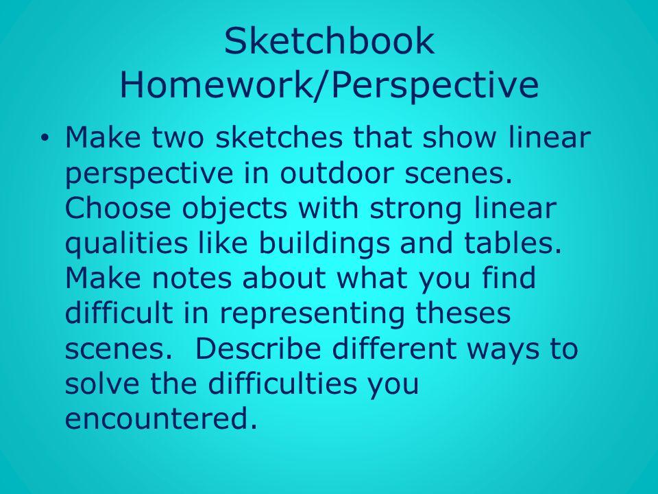 Sketchbook Homework/Perspective