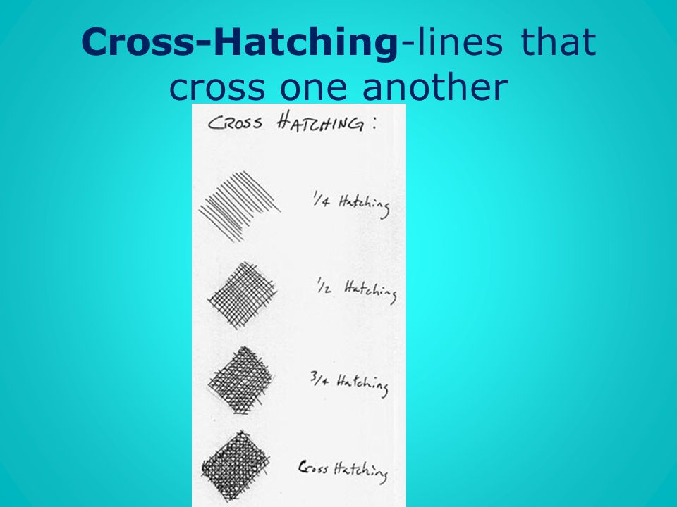 Cross-Hatching-lines that cross one another