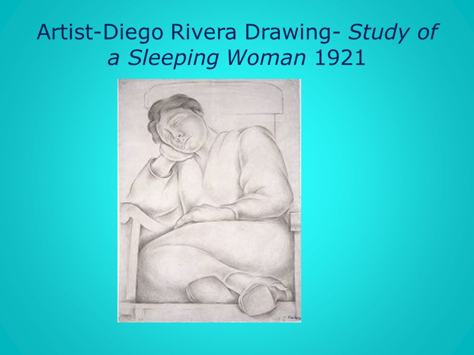 Artist-Diego Rivera Drawing- Study of a Sleeping Woman 1921