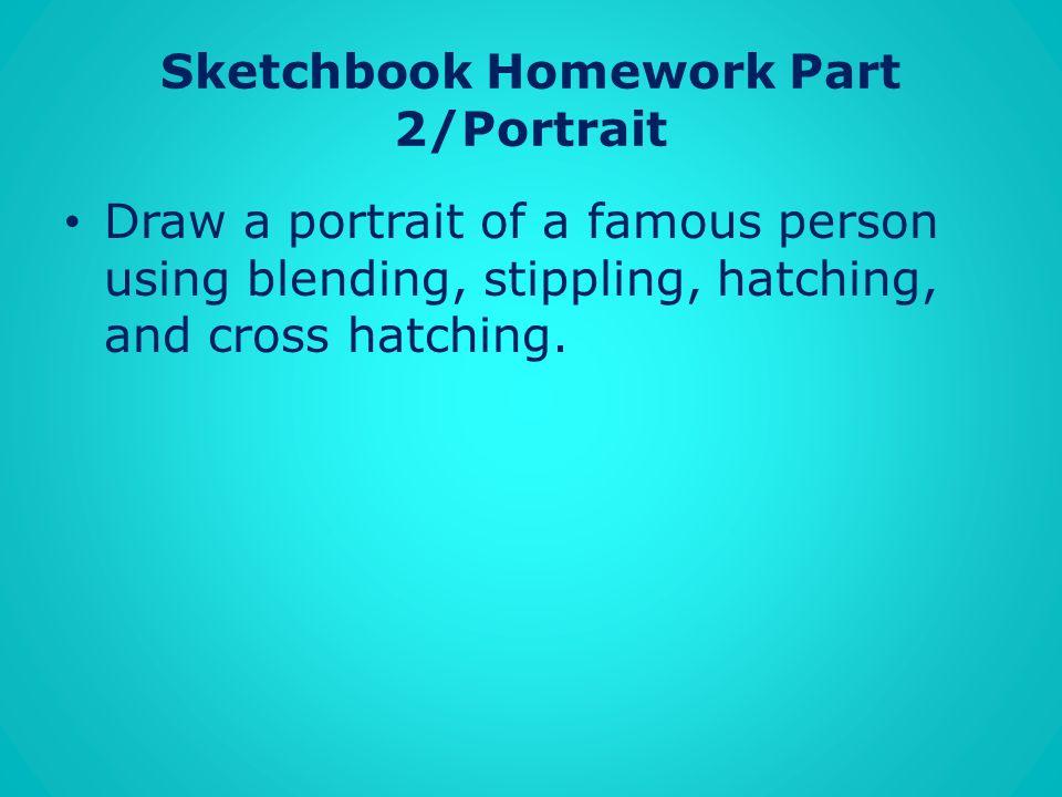 Sketchbook Homework Part 2/Portrait
