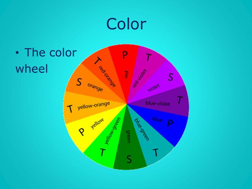 Color The color wheel