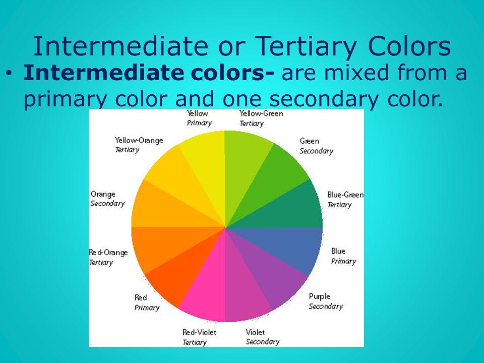 Intermediate or Tertiary Colors