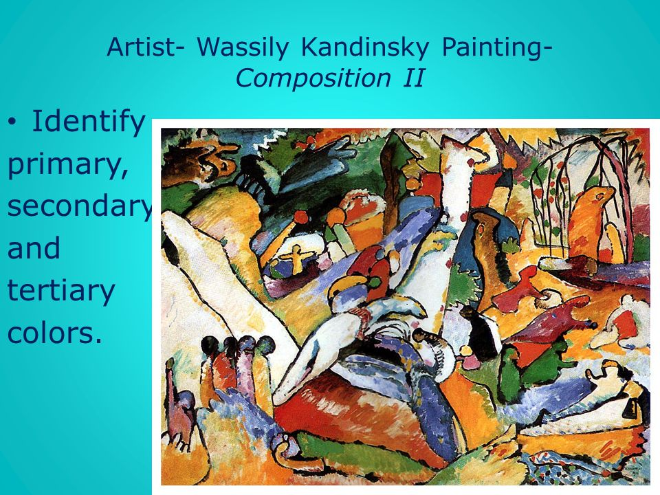 Artist- Wassily Kandinsky Painting- Composition II