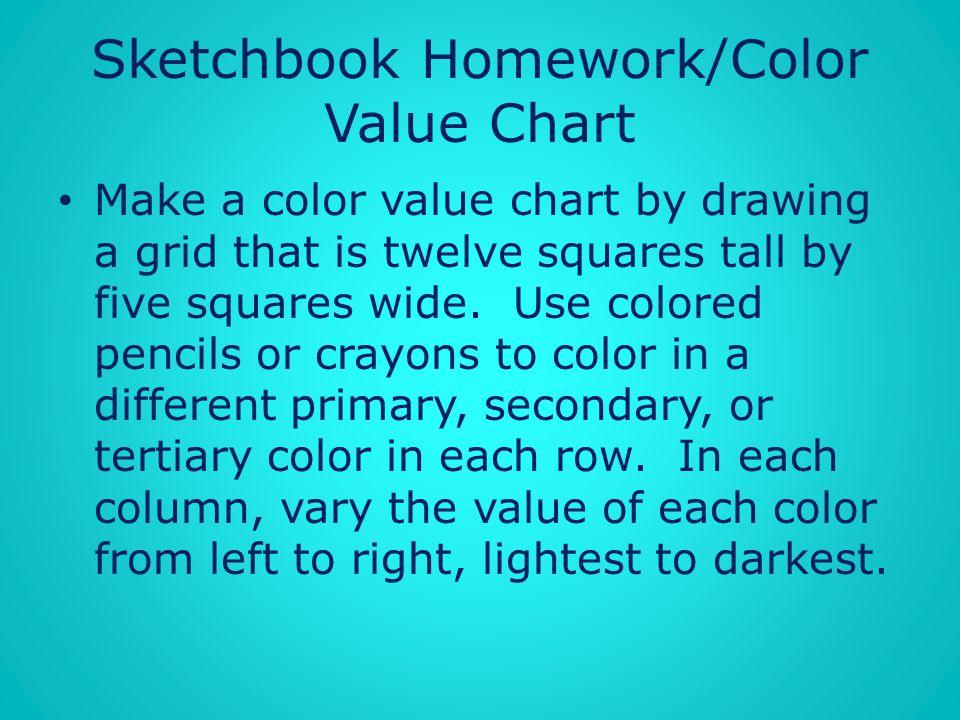 Sketchbook Homework/Color Value Chart