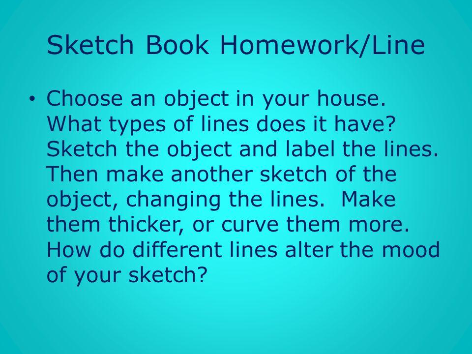Sketch Book Homework/Line
