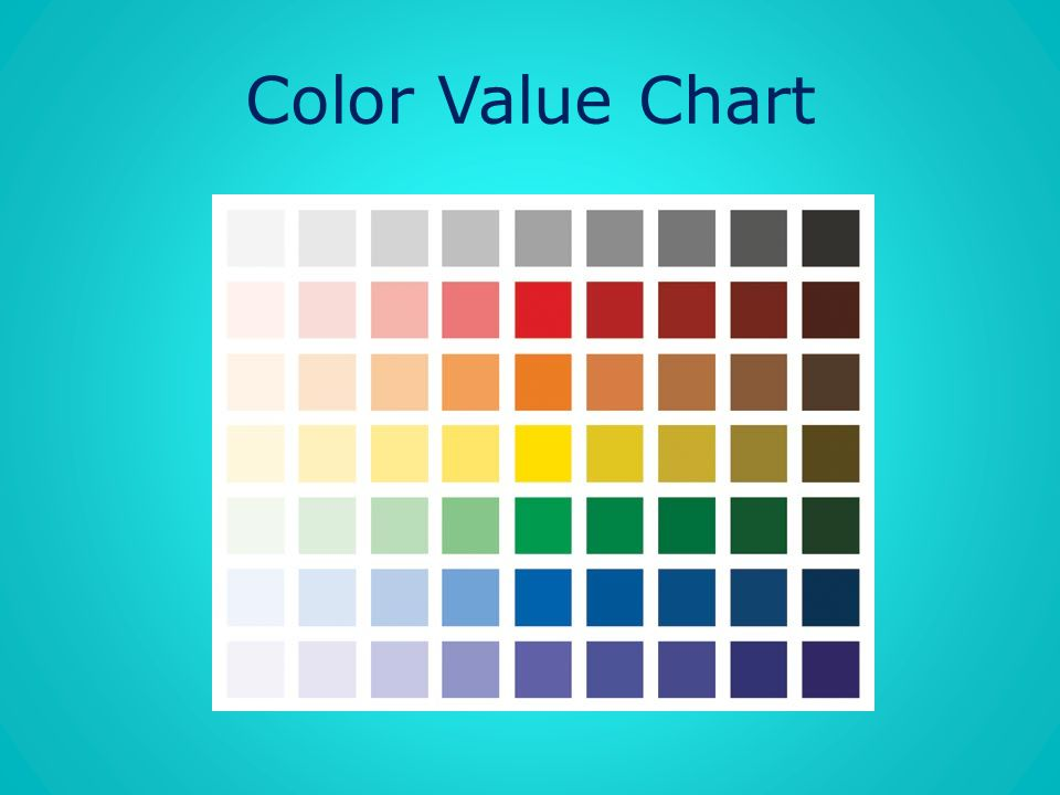Color Value Chart